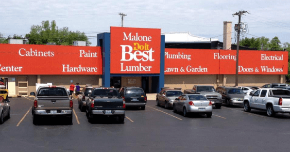 Malone Lumber storefront