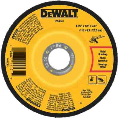DeWalt HP Type 27 4-1 In. x 1/4 In. x 7/8 In. Metal/Stainless Grinding Cut-Off Wheel