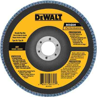 DeWalt 6 In. x 5/8 In.-11 60-Grit Type 29 High Performance Zirconia Angle Grinder Flap Disc