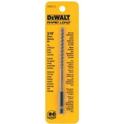 DeWalt 3/16 In. x 6 In. Rotary Masonry Drill Bit