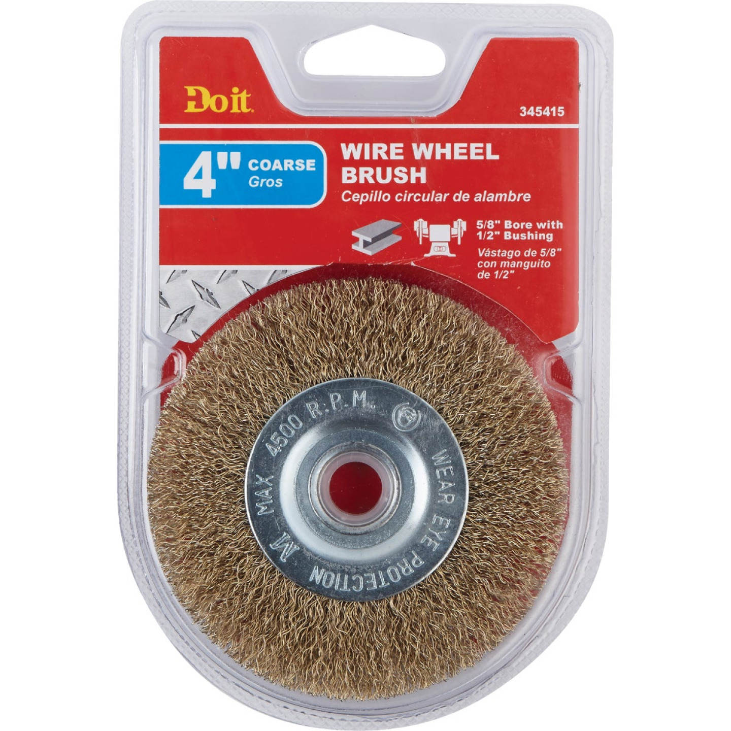 Do it 4 In. Coarse Bench Grinder Wire Wheel Image 2