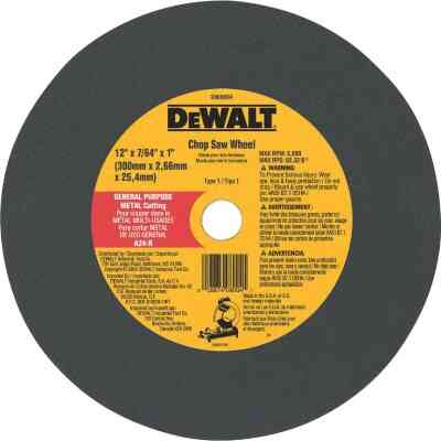 DeWalt HP Type 1 12 In. x 7/64 In. x 1 In. Metal Cut-Off Wheel