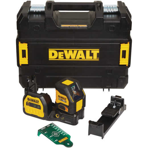 DeWalt 20V Max Cordless Green Cross-Line Laser Level (Tool-Only)
