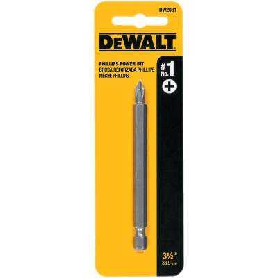 DeWalt Phillips #1 3-1/2 In. 1/4 In. Power Screwdriver Bit