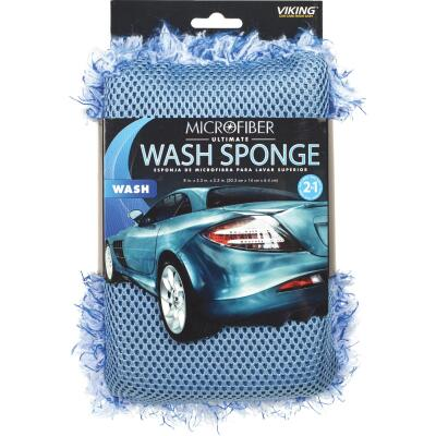 Viking 5-1/2 In. W x 8 In. L x 2-1/2 In. D 2N1 Ultimate Car Wash Sponge