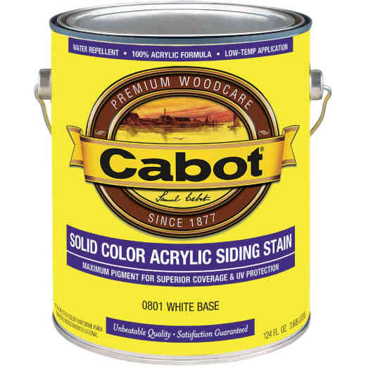 Cabot Solid Color Acrylic Siding Exterior Stain, White Base, 1 Gal.