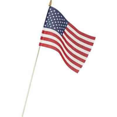 Valley Forge 8 In. x 12 In. Polycotton Stick American Flag